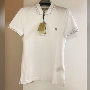🅽🆆🆃 Burberry Classic Logo White Polo T-shirt